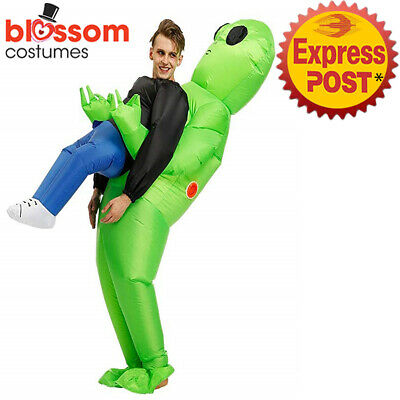 K354 Green Alien Inflatable Monster Costume Carrying Human Cosplay Halloween
