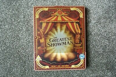 The Greatest Showman Limited Edition Bluray+Dvd Steelbook