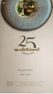 Vouchers only - Melbourne Entertainment Book Vouchers 2019/20