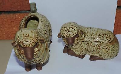 Gempo Pottery Sheep Milk Jug Sugar Bowl