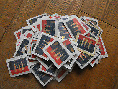 100 x 2nd Class Xmas GB Stamps Three Wise Men Used & Franked Christmas Second