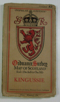 1928 Old OS Ordnance Survey One Inch Popular Edition Scotland Map 43 Kingussie
