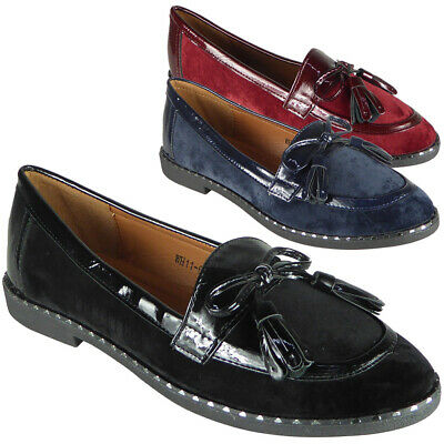 Womens Ladies Loafers Pumps Slip On Flats Work Office Boat Comfy School Shoes Sz