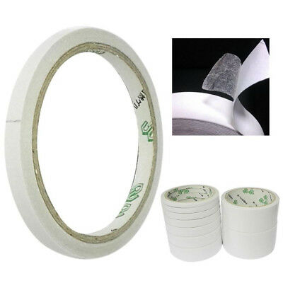 25M Double Sided Clear Sticky Tape DIY Strong Craft Adhesive Office School White