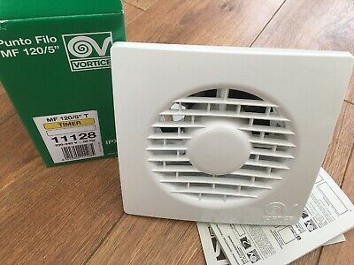 """Vortice 11128 MF120/5"""" T Extractor Fan with timer 125mm (5 INCH)"""