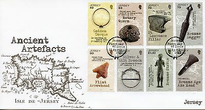 Jersey 2017 FDC Ancient Artefacts 8v Set Cover History & Archaeology Stamps