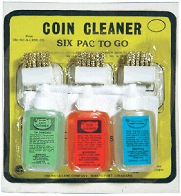Nic A Pak Coin Cleaning Solution Nic a Lene/Spray & Tone + Brushes & Holders Set