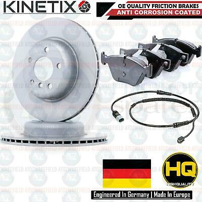 FOR BMW 518d 520d FRONT COATED BRAKE DISCS PLATINUM PD PADS WIRE SENSOR 330mm