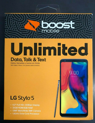 LG - Stylo 5 (Silvery White) Boost Mobile. Sealed, Brand NEW