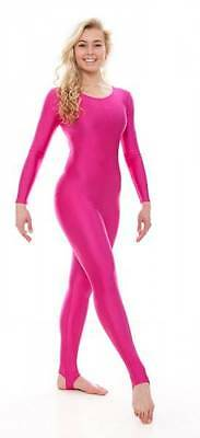 All Colours + Sizes Nylon Lycra Shiny Stirrup Dance Gym Catsuit By Katz KDC012