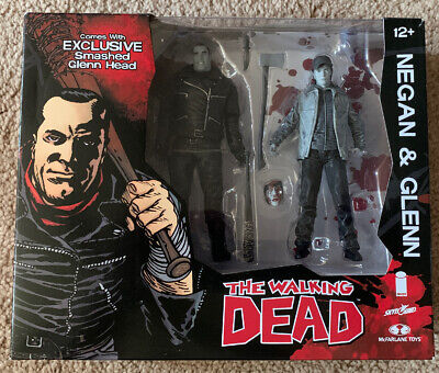 The Walking Dead Glenn Negan Bloody Variant 2 pack Exclusive Figure Box Set TWD