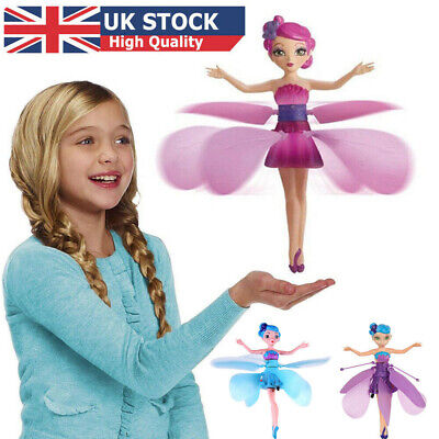 Kids Flying Fairy Toy Princess Dolls Magic Infrared Induction Control Xmas Gift