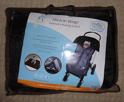 """TIVOLI COUTURE Winter/Fall """"Miracle Wrap"""" Footmuff System - GREAT!"""