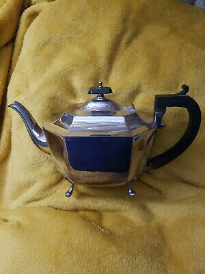 Hallmarked CF &CO Vintage Silver Plated Teapot EPNS 2452
