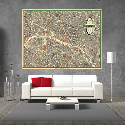 Huge Large Poster Canvas Wall Print Home Decor Vintage World Map City of London