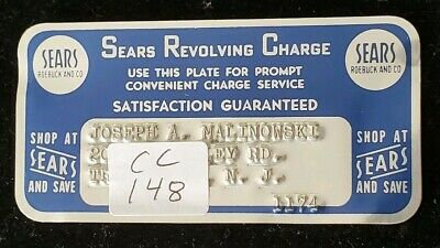 Sears Revolving Charge METAL CARD exp 1974 ♡Free Shipping♡cc148♡ small size