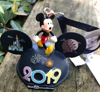 Disney Parks Walt Disney World Mickey 2019 Ear Hat Ornament New Lighted!