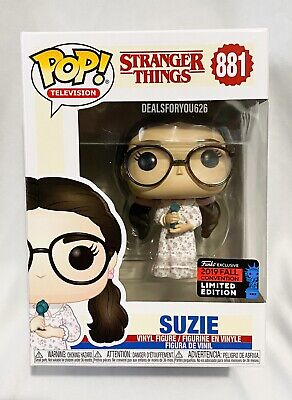 NYCC 2019 Shared Exclusive Stranger Things Suzie Funko Pop #881 Mint +Protector