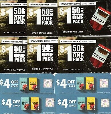 Cigarette Tobacco Coupons - Natural American Spirit, Winston