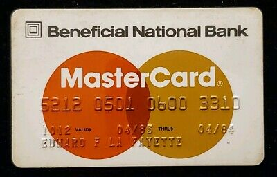 1984 Beneficial National Bank MasterCard  ♡Free Shipping♡cc164♡