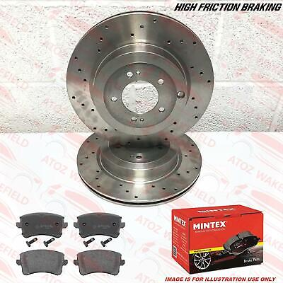 Drilled Grooved Rear Brake Discs PR:1KW 300mm Audi A6 C7 All 2011