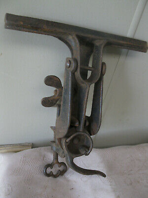 Vintage Vice. Bench mount saw sharpening clamp. Repaired.