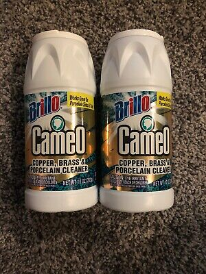 New Cameo Copper Brass Porcelain Cleaner Works on Porcelain Sinks & Tubs (2)