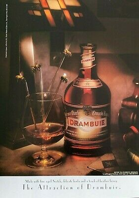1994 DRAMBUIE Liqueur Touch of Honey & Herbs The Attraction of Drambuie PRINT AD