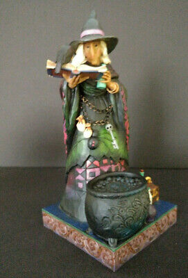 """2010 Jim Shore Halloween Witch """"Conjouring Up A Spell"""" Heartwood Creek #4017588"""