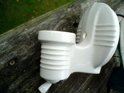 Vintage Porcelain Bathroom Wall Sconce Light Fixture Pull chain With Plug In