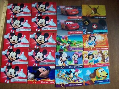 Disney Collectible Gift Cards - LOT of 20 - Used NO VALUE Mickey Minnie Slinky