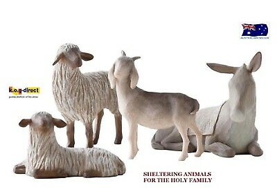 SHELTERING ANIMALS FOR THE HOLY FAMILY Demdaco Willow Tree By Susan Lordi
