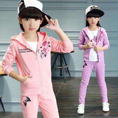 Fall Girls Clothes Jacket Kids Clothing Hoodies+Pants Girl Tracksuit Sport Suit