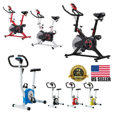 Pro Indoor Exercise Gym Bike Stationary Bicycle Fitness Cardio Cycling Training