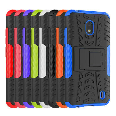 Rugged Hybrid Armor Shockproof Protective Hard Case Stand Cover For Nokia 2.2