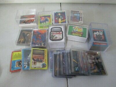 Assorted Non Sport Trading Card Collection with Spiderman, Garbage Pail Kids