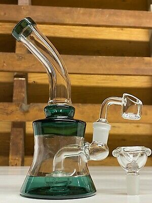 Hookah Glass Water Pipe 9'' Smoking Bong With Bowl And Percolator Assorted Color