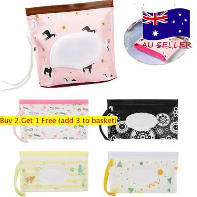 Cosmetic Pouch Wet Wipes Bag Tissue Box Stroller Accessories Carrying Case AU