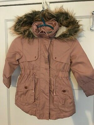Next Girls Pink Hooded Coat-Age 3 Years