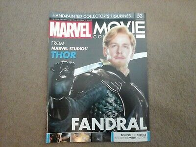 Eaglemoss Marvel movie collection Fandral 53  *MAGAZINE ONLY * Thor