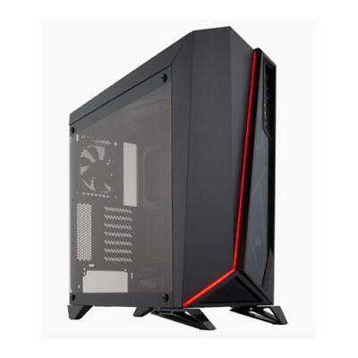 Corsair Carbide SPEC-OMEGA Mid-Tower Tempered Glass Gaming Case, Black and Red (