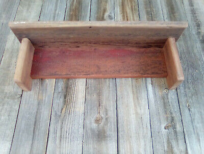 Barn Wood Rustic Country Primitive Wall Shelf Barn Red Farm House Patina N46