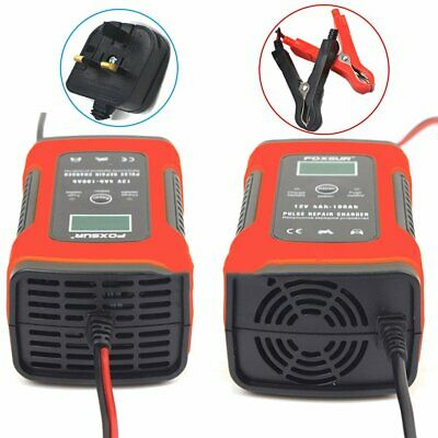 12V 5Amp Automatic Intelligent Battery Charger Fast Trickle Car Van Boat Motor