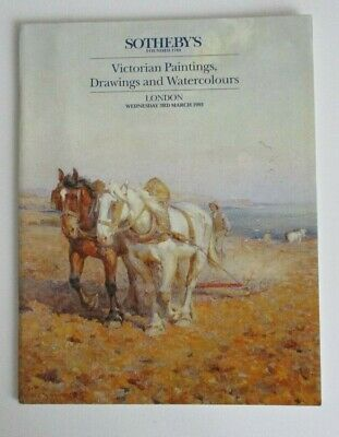 Sotheby's catalogue 1993,Victorian Paintings,Drawings Watercolours