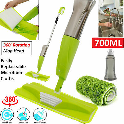 Water Spraying Spray Mop Floor Cleaner Tiles Marble Kitchen 700Ml Micro Fibre