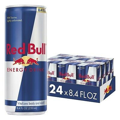 Red Bull Energy Drink, 8.4 Fl Oz 24 Count, Free Shipping, Brand New