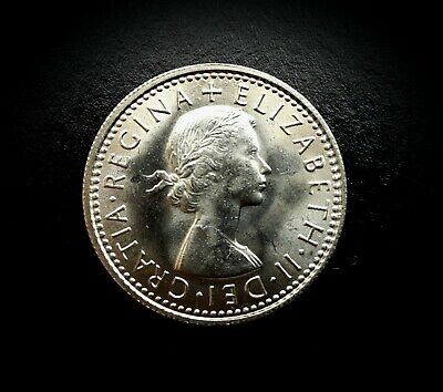 QUEEN ELIZABETH II RARE 1967 UNCIRCULATED SIXPENCE 6d COIN  - CAPSULATED
