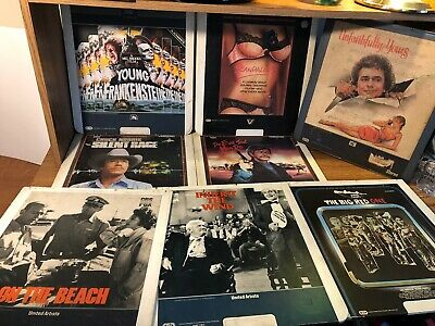 8 CED Video Disc Lot Young Frankenstein Silent Rage Vintage RARE UNTESTED FOX