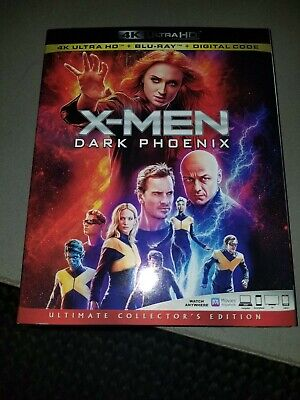 X-Men Dark Phoenix (4K Ultra HD + Blu-Ray + Digital) Brand NEW W/Slipcover