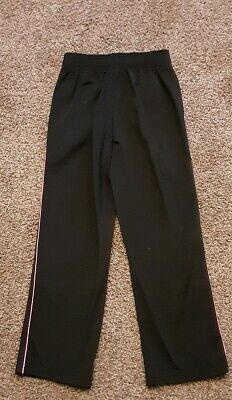 Girls Small Black Pink Stripe Active Wear Athletic Pants Reebok Elastic Waist !!